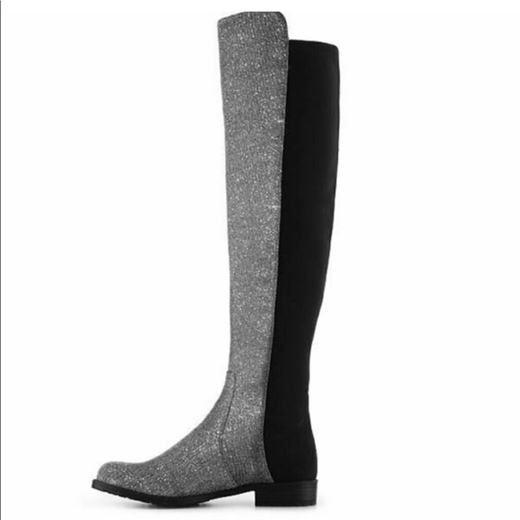 ebd90b089be Unisa Gillean Glitter Over The Knee Boot. M 5a9b3536c9fcdf2a8834cc08